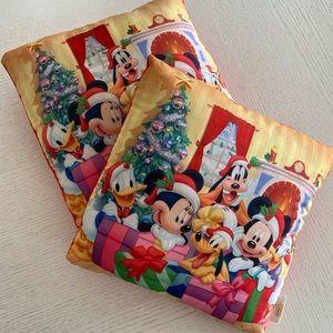 2 x Disney Characters Christmas Cushions